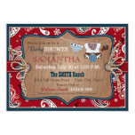 Bandanna Print Cowboy Baby Shower 13 Cm X 18 Cm Invitation Card