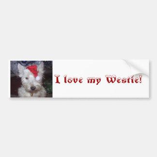 bandb 004, I love my Westie! Bumper Sticker