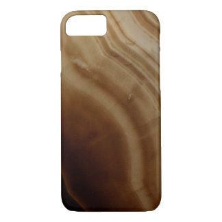 Banded Agate, Brown, Cool Nature Stone iPhone 7 Case