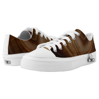 Banded Agate, Brown, Cool Nature Stone Printed Shoes