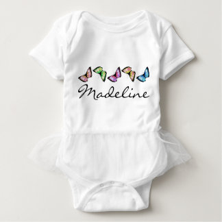 """Banded Butterflies"" Baby Bodysuit"