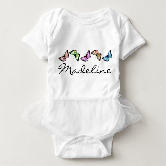 """Banded Butterflies"" Baby Bodysuit"