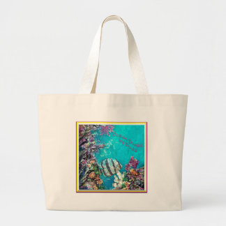 Banded Butterflyfish Beach Bags