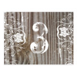 Banded Wood Table Number Post Cards