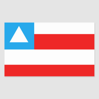 Bandeira da Bahia Brasil Adesivos Retangulares