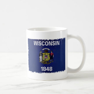 Bandeira de Wisconsin Basic White Mug