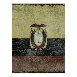 Bandeira do equador cartoes postais