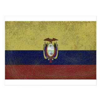Bandeira do equador cartao postal