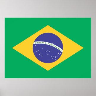 Bandeira e simbolos do Brasil Poster