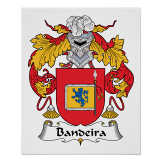 Bandeira Family Crest Poster