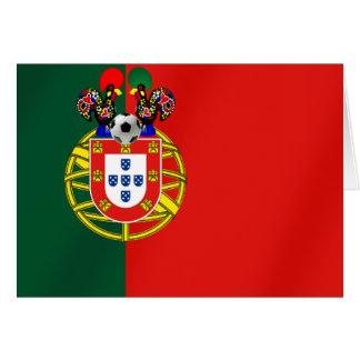 Bandeira Portuguesa Classica por Fás de Portugal Greeting Card