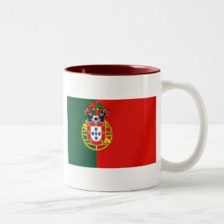 Bandeira Portuguesa Classica por Fás de Portugal Two-Tone Mug