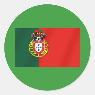 Bandeira Portuguesa Classica por Fás de Portugal Round Sticker