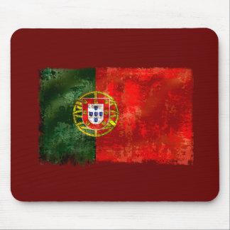 Bandeira Portuguesa - Estilo retro Mouse Pad
