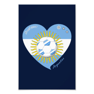 Bandera de ARGENTINA FÚTBOL equipo nacional 2014 Impresiones Fotográficas
