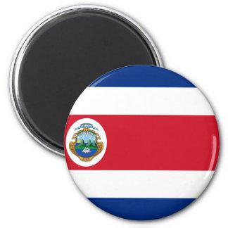 Bandera de Costa Rica - Flag of Costa Rica 6 Cm Round Magnet