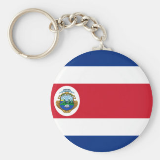 Bandera de Costa Rica - Flag of Costa Rica Basic Round Button Key Ring