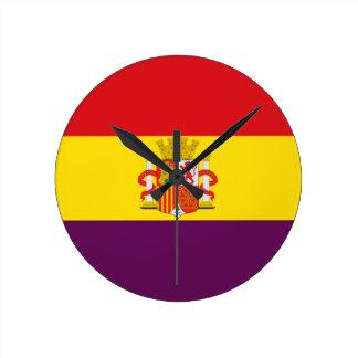 Bandera de la República Española Round Clock