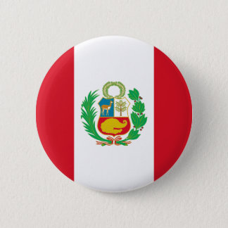 Bandera del Perú - Flag of Peru 6 Cm Round Badge