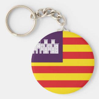Bandera Islas Baleares - Flag Balearic Islands Key Ring