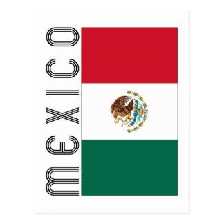 Bandera Mejicana Postcard