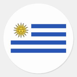 Bandera Uruguay Classic Round Sticker