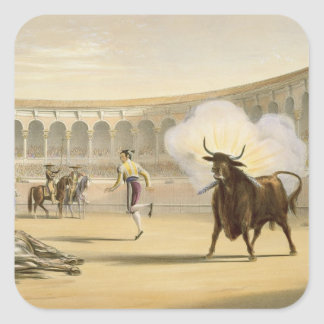 Banderillas de Fuego, 1865 (colour litho) Square Sticker