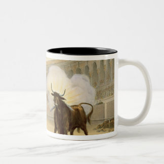 Banderillas de Fuego, 1865 (colour litho) Two-Tone Coffee Mug