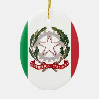 Bandiera Italiana - State Ensign of Italy Ceramic Oval Decoration