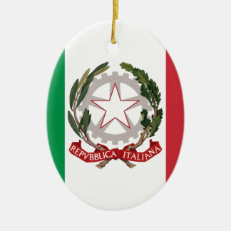 Bandiera Italiana - State Ensign of Italy Christmas Ornament