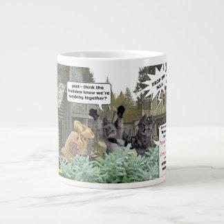Bandit Cats Republican & Democrate Mug Jumbo Mug