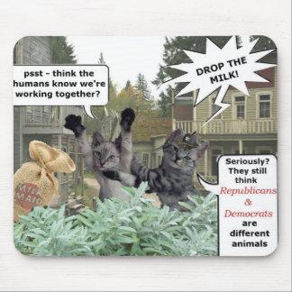 Bandit Cats Republicans and Democrates Mouse Pad