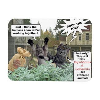 Bandit Cats Republicans & Democrates magnet