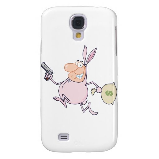 Bandit Running With Easter Rabbit Costume Samsung Galaxy S4 Cover