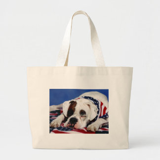 Bandit the Boxer Large Tote Bag