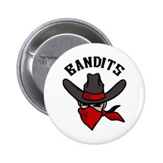 BANDITS MASCOT 6 CM ROUND BADGE