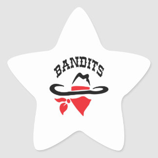 BANDITS STAR STICKER