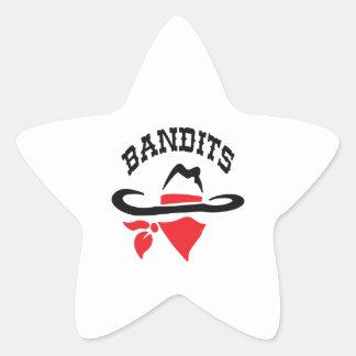 BANDITS STAR STICKERS