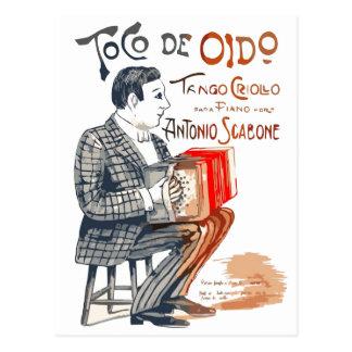Bandoneon Tango Postcard