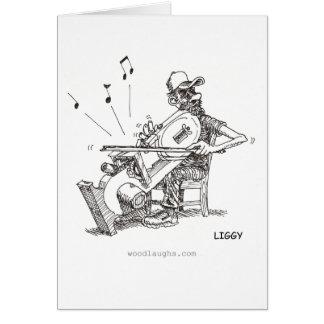Bandsaw Musician Card