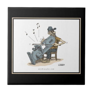 Bandsaw Musician Cartoon Tile