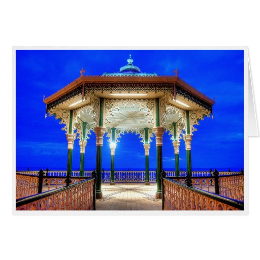 Bandstand at Twilight Greeting Card