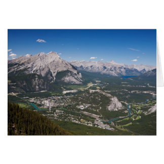 Banff Aerial View Note Greeting Card