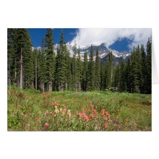 Banff Flowers Canada Card