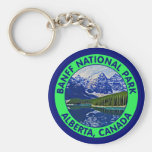 Banff National Park, Alberta, Canada Basic Round Button Key Ring