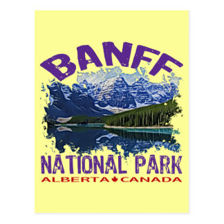 Banff National Park, Alberta Canada Postcard