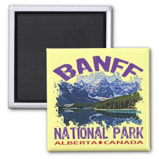 Banff National Park, Alberta Canada Square Magnet