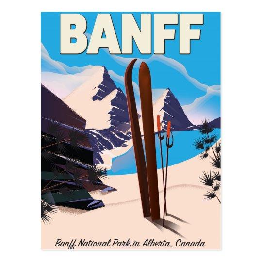 Banff National Park in Alberta, Canada. Postcard