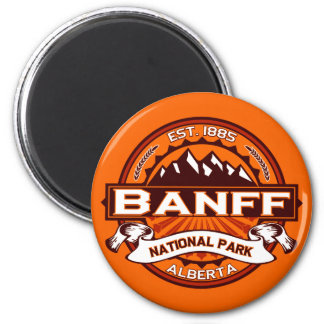 Banff National Park Logo 6 Cm Round Magnet