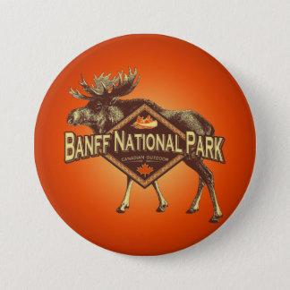 Banff National Park Moose 7.5 Cm Round Badge